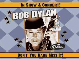 Bob Dylan Tour Poster