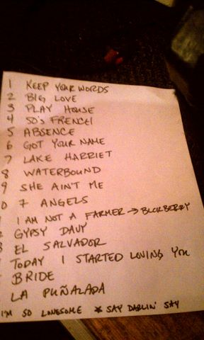 Carrie R. Set List